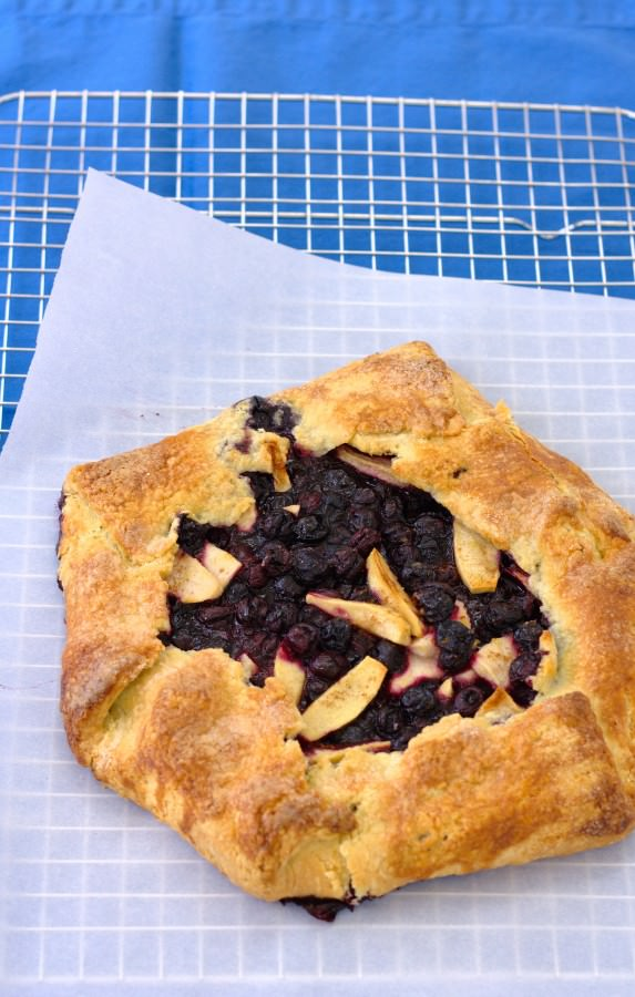 Blueberry Apple Galette - fresh blueberries star in this rustic galette. | Kristine's Kitchen