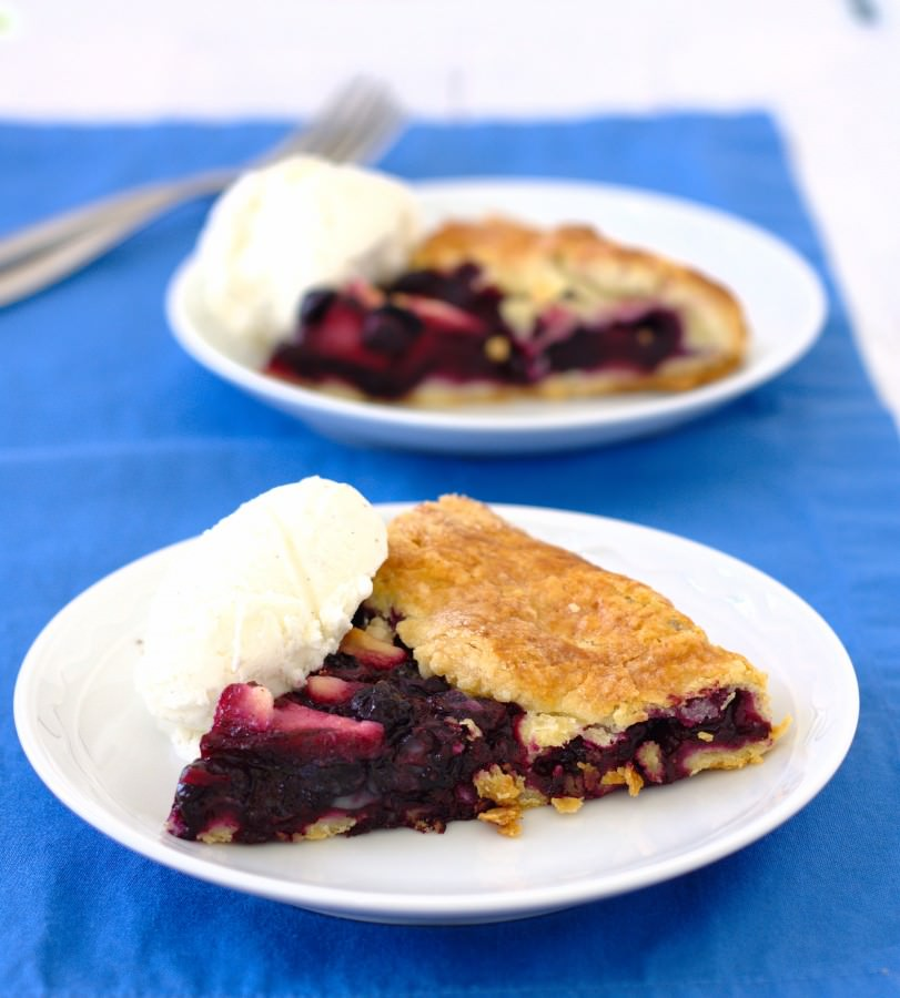 Blueberry Apple Galette~Kristine's Kitchen