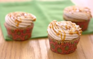 Caramel Apple Spice Cupcakes with Cinnamon Cream Cheese Frosting~Kristine's Kitchen