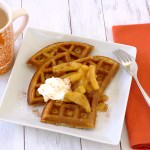 Cinnamon Waffles with Caramelized Apples~Kristine's Kitchen