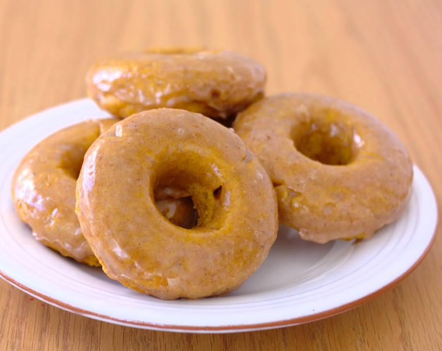 Kristine's Kitchen: Baked Pumpkin Doughnuts with Spiced Buttermilk Glaze