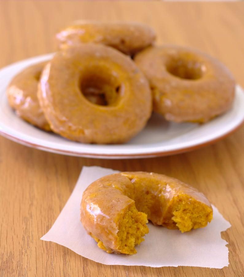 Kristine's Kitchen: Baked Pumpkin Doughnuts with Spiced Buttermilk Glaze
