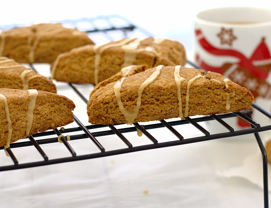 Gingerbread Scones with Maple Glaze by Kristine's Kitchen