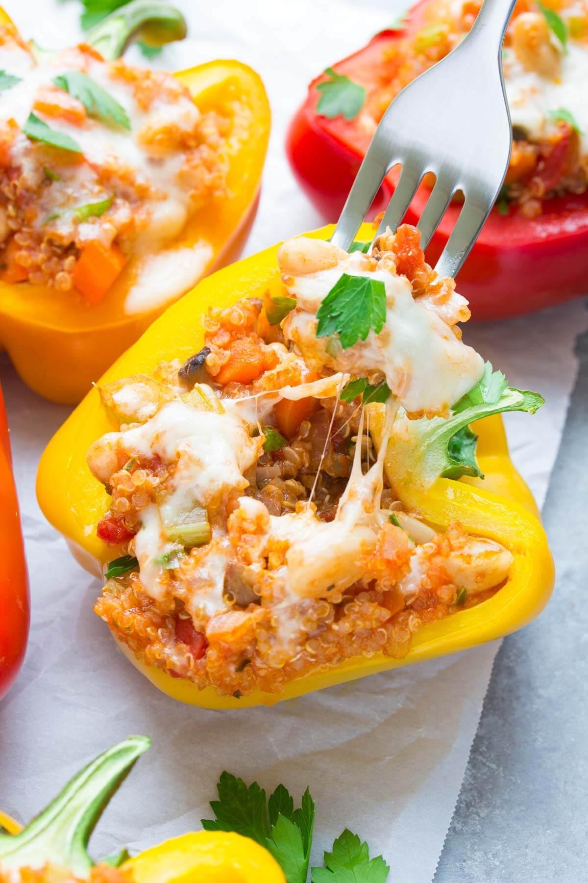 Watch Mediterranean Quinoa Stuffed Peppers video