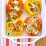 Italian Quinoa Stuffed Peppers by Kristine's Kitchen