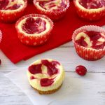 Cranberry Swirl Cheesecake Cupcakes