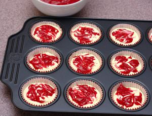 Cranberry Swirl Cheesecake Cupcakes | Kristine's Kitchen