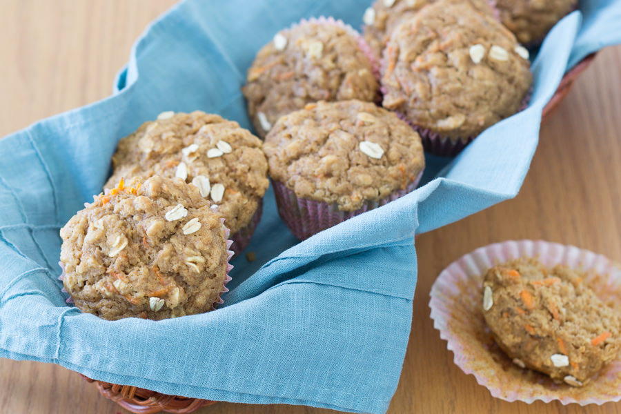 Healthy Carrot Cake Oat Muffins   Kristine's Kitchen
