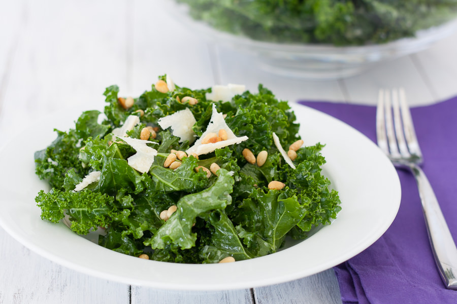 Lemon-Parmesan Kale Salad | Kristine's Kitchen