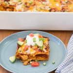 Stacked Chicken Enchiladas | Kristine's Kitchen