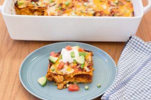 Stacked Chicken Enchiladas | Kristine's Kitchen