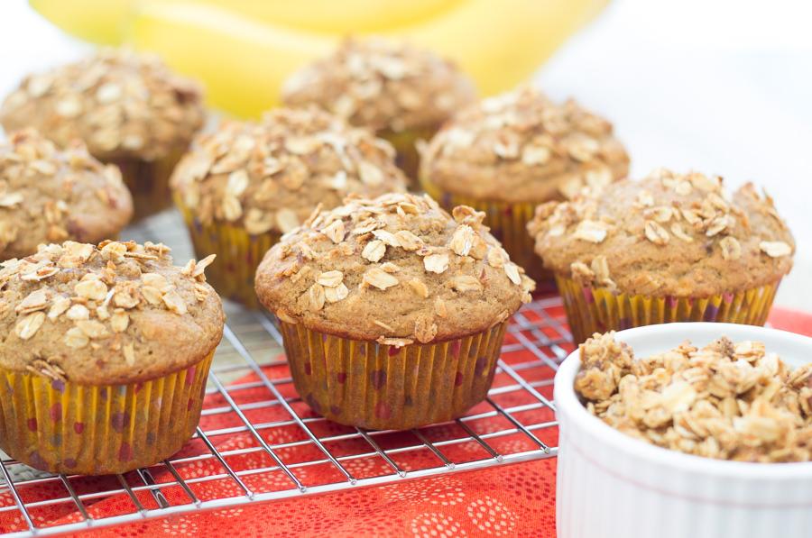 Granola Crunch Banana Muffins | Kristine's Kitchen