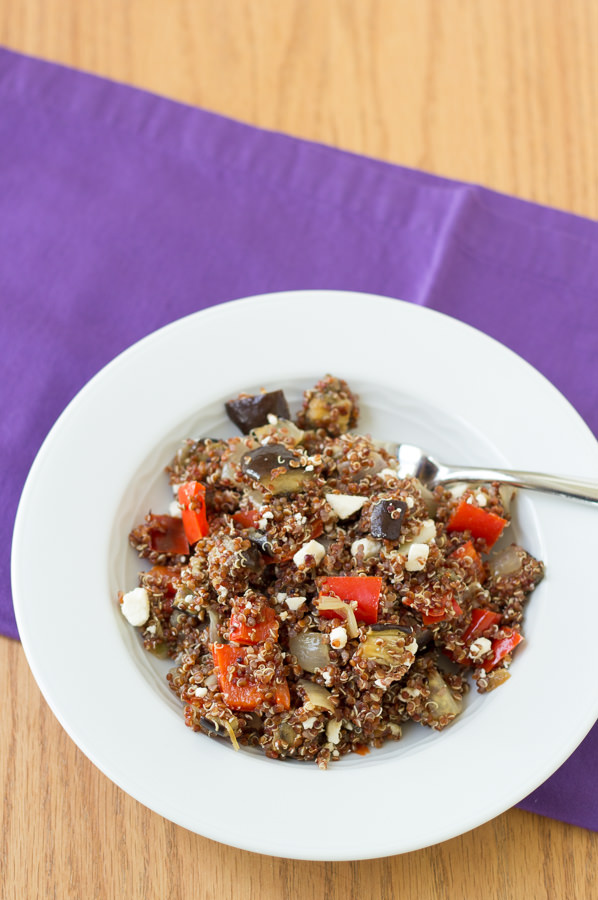 Roasted Vegetable Quinoa Salad with Balsamic Vinaigrette | Kristine's Kitchen