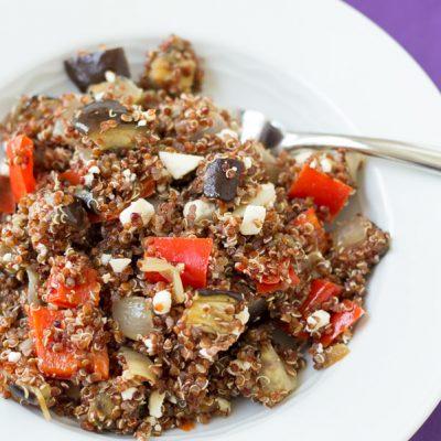 Roasted Vegetable Quinoa Salad with Balsamic Vinaigrette