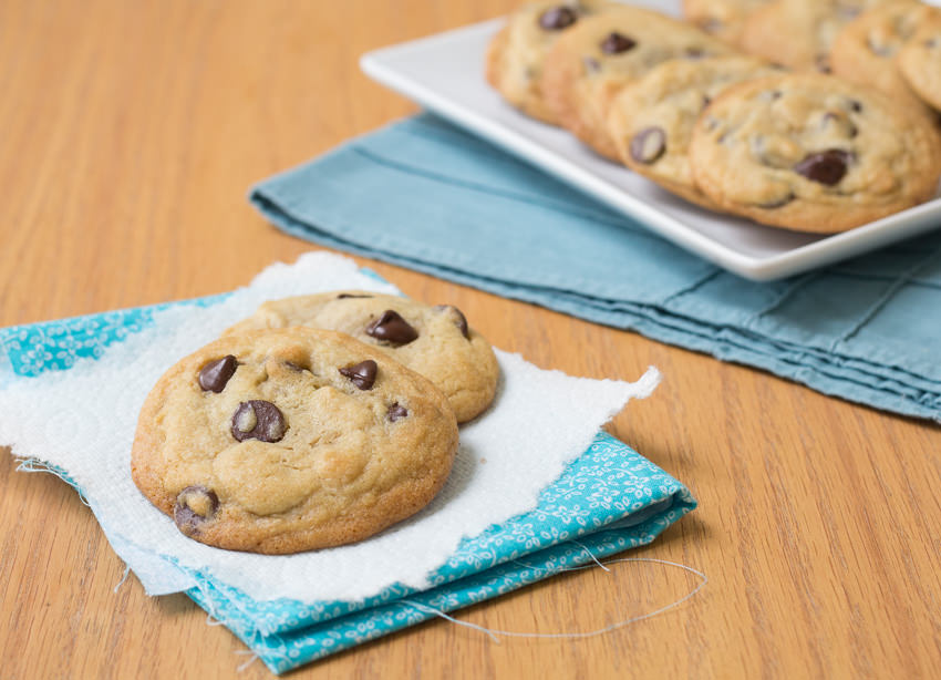 My Favorite Chocolate Chip Cookies - a secret ingredient makes these so soft and chewy. | Kristine's Kitchen