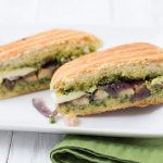 Portabello Pesto Panini- you will love this veggie sandwich!  | Kristine's Kitchen
