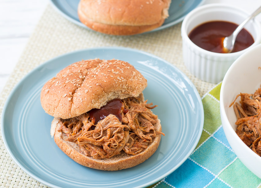 Slow Cooker BBQ Pulled Pork- so quick and easy to make!  | Kristine's Kitchen