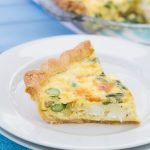 Asparagus and Goat Cheese Quiche by Kristine's Kitchen.  Perfect for Mother's Day brunch or a casual weeknight dinner!