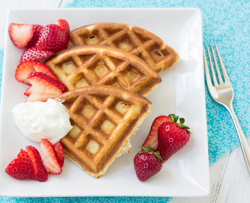 yogurt multigrain ricotta waffles with strawberries and yogurt honey ...
