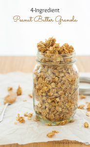 4-Ingredient Peanut Butter Granola - the easiest granola recipe | Kristine's Kitchen