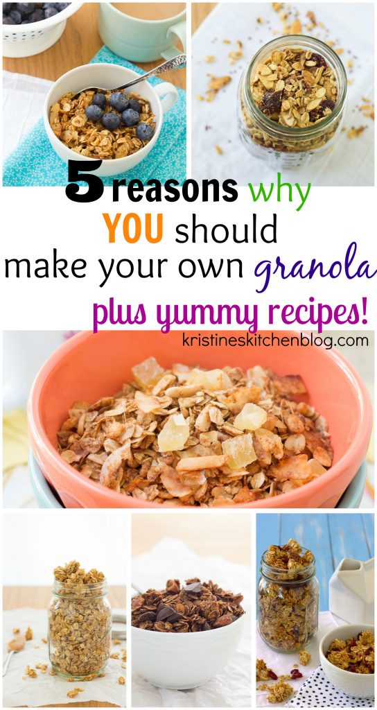 5 reasons why you should make your own granola, plus yummy recipes! | Kristine's Kitchen