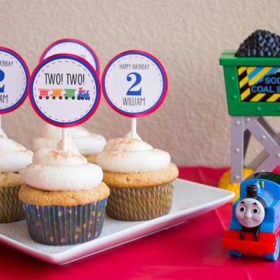 William is Two:  A Thomas the Train Birthday Party!