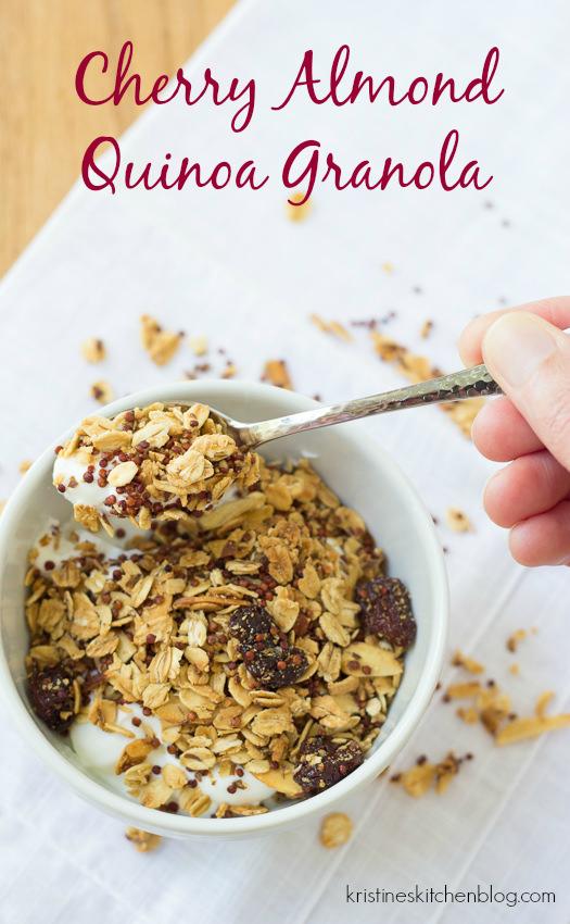 Cherry Almond Quinoa Granola - Kristine's Kitchen