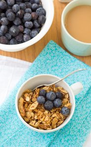Honey Almond Flax Granola by Kristine's Kitchen.  A healthy and delicious way to start your day!