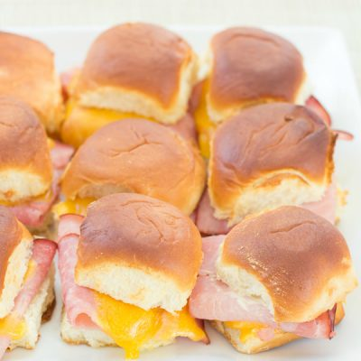 Ham and Cheddar Sliders with Honey Mustard