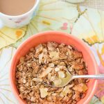 This Tropical Granola is lightly sweetened with toasted coconut, almonds, and pineapple. | Kristine's Kitchen