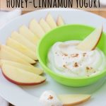 Apple Dippers with Honey-Cinnamon Yogurt {Healthy Bites for Kids}