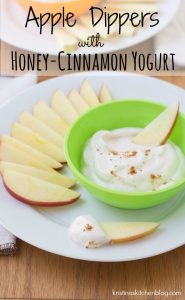 Apple Dippers with Honey-Cinnamon Yogurt {plus a new series - Healthy Bites for Kids!} | Kristine's Kitchen