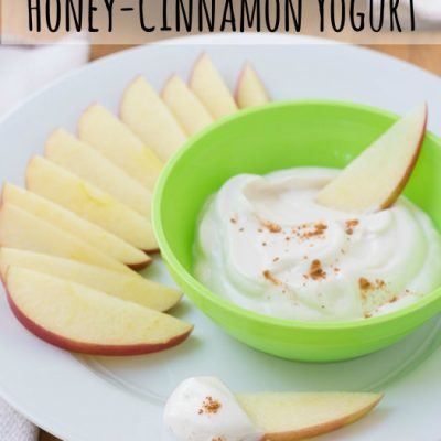 Apple Dippers with Honey-Cinnamon Yogurt {Healthy Bites for Kids}