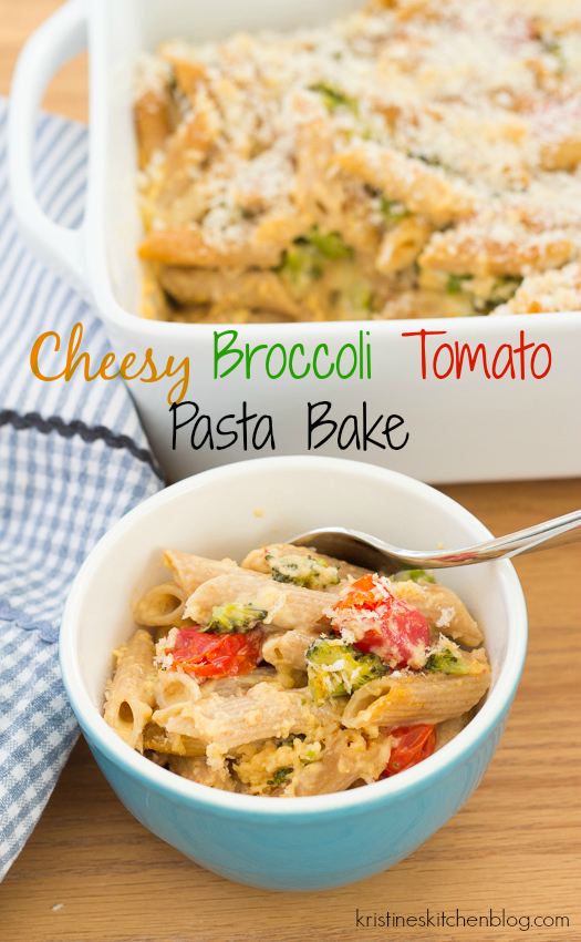 Roasted tomatoes and broccoli make this mac and cheese-style pasta something special. | Kristine's Kitchen