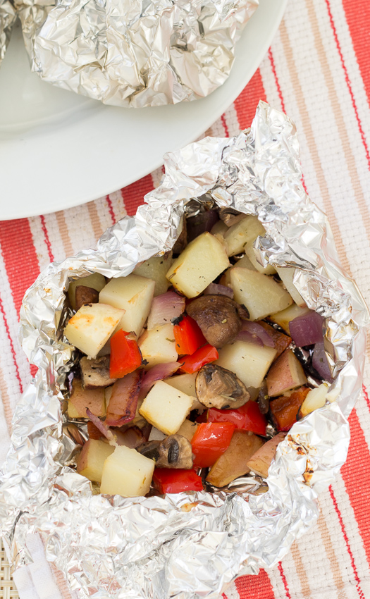 Grilled Vegetables in Foil Packets - easy & yummy veggies, without turning on your oven | Kristine's Kitchen
