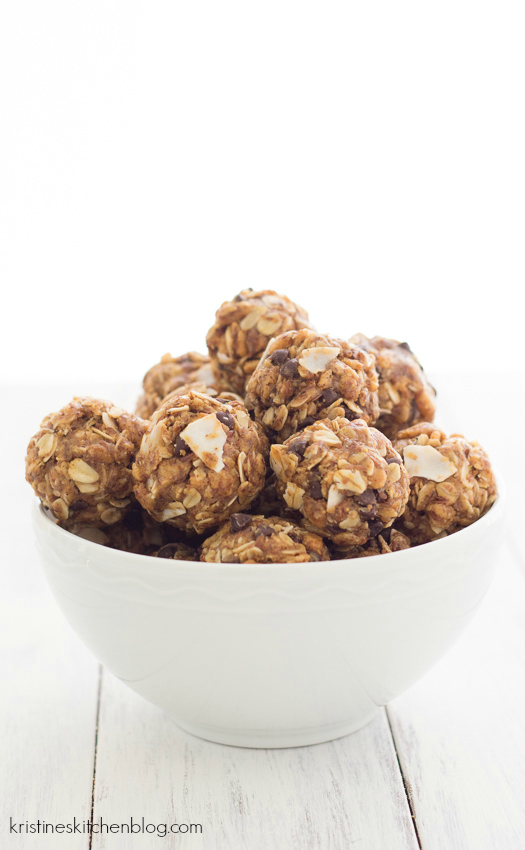 No-Bake Energy Bites {plus a new series:  Healthy Bites for Kids!} | Kristine's Kitchen