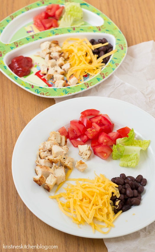BBQ Chopped Chicken Salad with Cilantro-Lime Dressing | Kristine's Kitchen