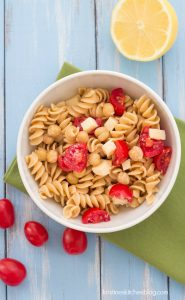 Easy Two Cheese  Pasta with Chickpeas - make a big batch for healthy lunches or a quick dinner   Kristine's Kitchen