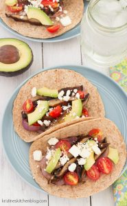 Spicy Grilled Portobello Tacos - you will LOVE this healthy, meatless meal! | Kristine's Kitchen