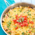 Chicken Tortilla Casserole - a little spicy, a lot cheesy, and full of crushed tortilla chips! | Kristine's Kitchen