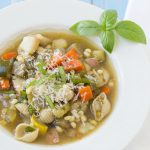 Farmers' Market Minestrone - bursting with fresh summer produce! | Kristine's Kitchen