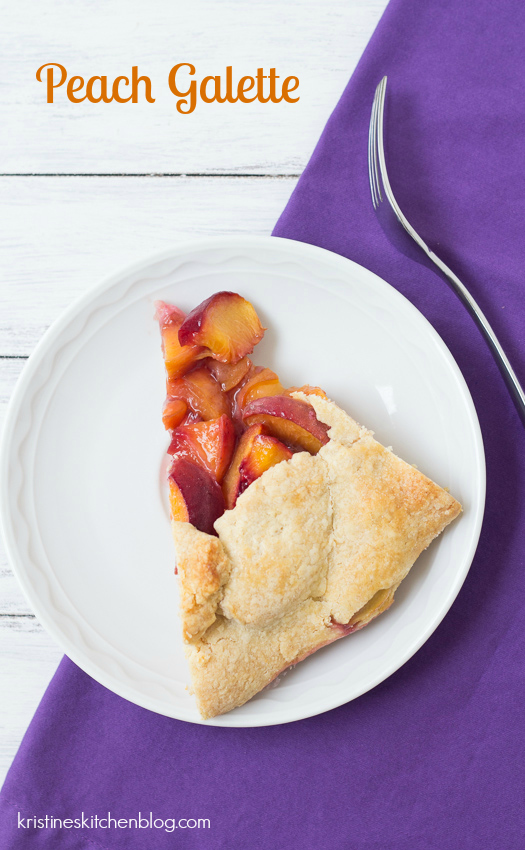 Peach Galette - sweet, juicy peaches fill a buttery, flaky crust | Kristine's Kitchen