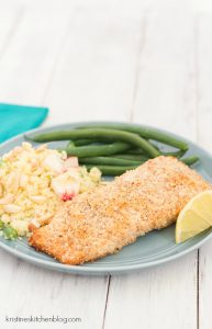 Almond-Crusted Salmon - this will become your quick, go-to salmon recipe! | Kristine's Kitchen