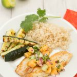 Pan-Seared Tilapia with Melon Salsa | Kristine's Kitchen