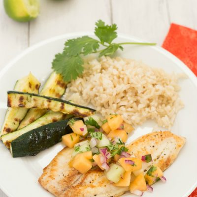 Pan-Seared Tilapia with Melon Salsa