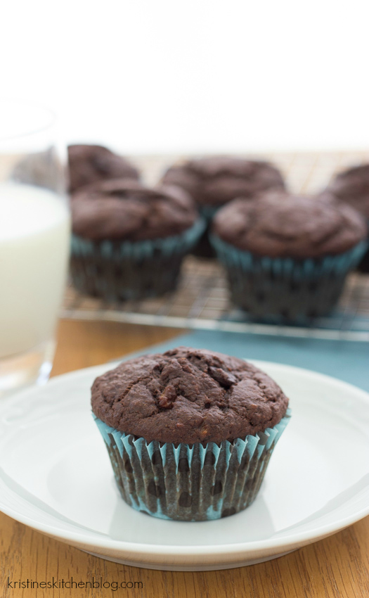 ... chocolate. These Triple Chocolate Banana Muffins will turn your so-so