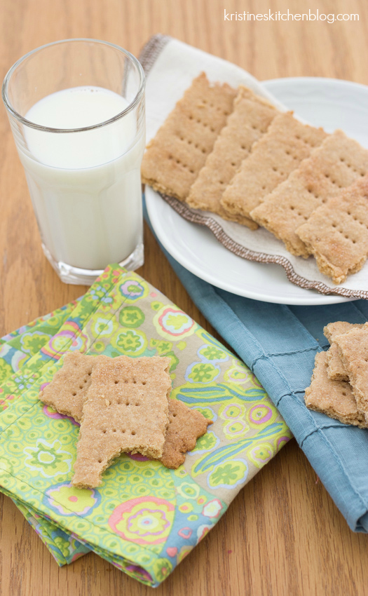 Whole Grain Graham Crackers are easier to make than you think! Kristine's Kitchen