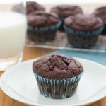Triple Chocolate Banana Muffins