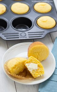 These Corniest Corn Muffins have an amazing texture thanks to real cornmeal and corn - Kristine's Kitchen