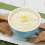 Artichoke, Leek, and Goat Cheese Dip with Garlic Pita Chips | Kristine's Kitchen